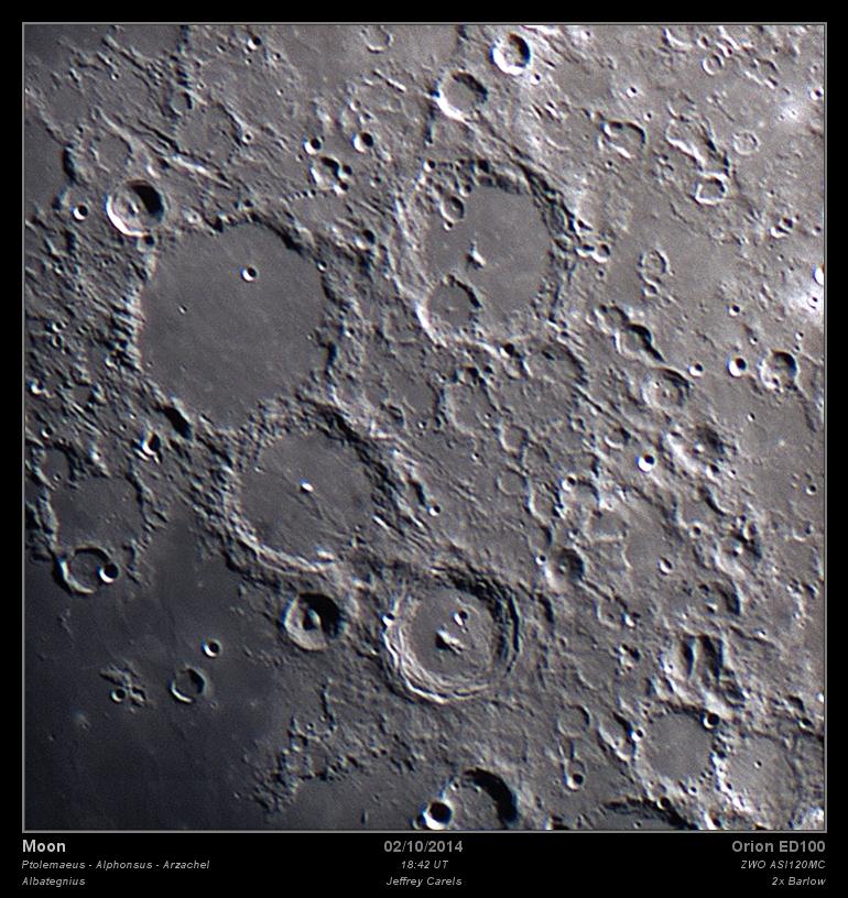 Ptolemaeus -Alphonsus - Arzachel - Albategnius